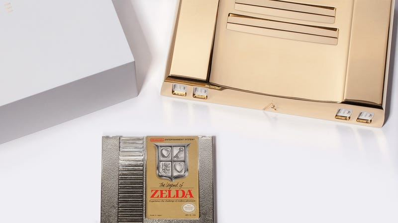 Illustration for article titled A 24K Gold NES Clone Is the Classiest Way To Celebrate Zelda's 30th Anniversary
