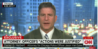 Daniel Herbert is the attorney of Jason Van Dyke, the Chicago officer charged with murder for the fatal shooting of black teen Laquan McDonald.CNN screenshot