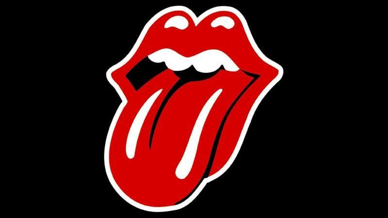 The Rolling Stones logo.