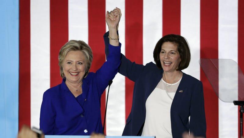 Cortez Masto and Hillary Clinton campaign together in Las Vegas, November 2016. Photo via AP