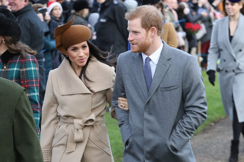 Meghan Markle and Prince Harry on Christmas Day 2017 in King's Lynn, England (Chris Jackson/Getty Images)