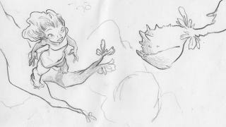 Illustration for article titled Unused Croods storyboards are carnivorous plant-fightingly fantastic