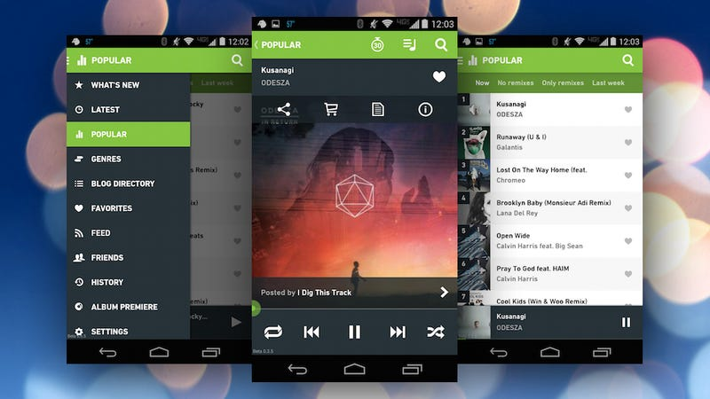 Illustration for article titled Hype Machine for Android Offers New, Ad-Free Streaming Music on the Go
