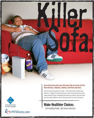 Illustration for article titled Upside-Down XBox 360, Sofas Kill Fat Children