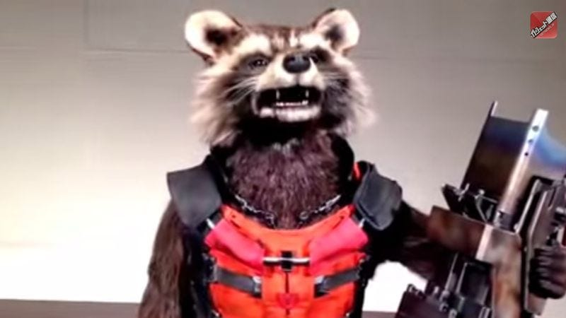 Illustration for article titled Let this animatronic Rocket Raccoon adorably paw his way into your nightmares