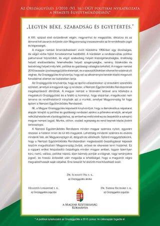Illustration for article titled Legyen béke, szabadság és egyetértés!