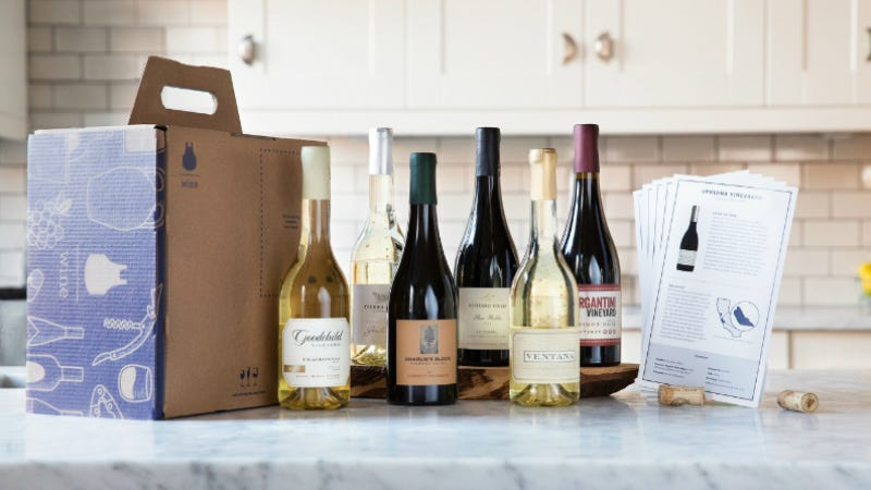 Illustration for article titled Blue Apron Now Ships Wine to Your House, Making You Even Lazier