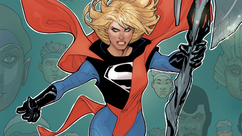 Kara's new look debuting on the cover of Supergirl #21.