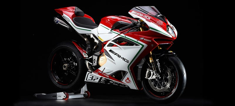 Illustration for article titled Limited-Edition MV Agusta F4 RC Superbike Lands With 212-HP, AMG Livery