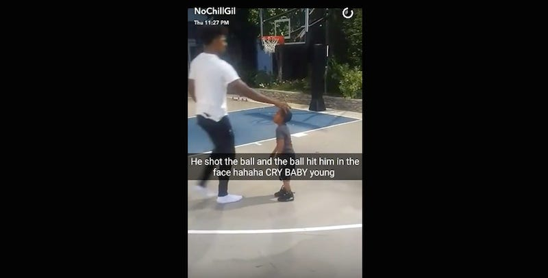 Illustration for article titled Gilbert Arenas Goes To Nick Young's House And Acts Like An Asshole