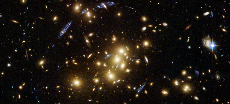 Illustration for article titled Hubble Captured a Cosmic Optical Illusion