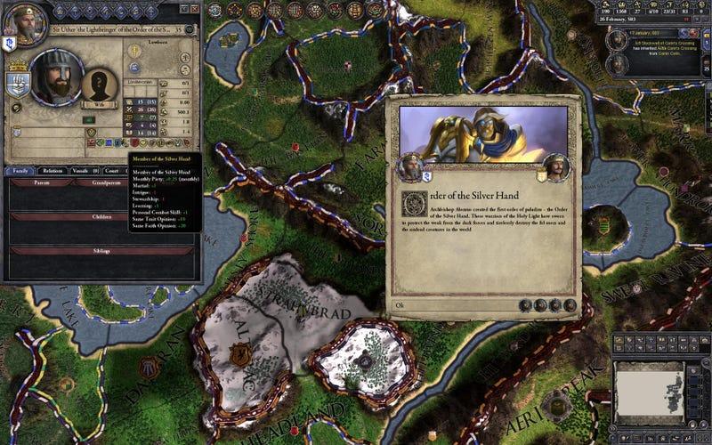 Illustration for article titled Crusader Kings II vs World Of Warcraft