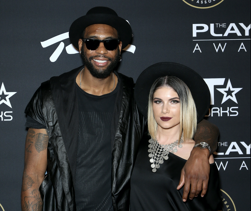 Rasual Butler and Leah LaBelle in Las Vegas on July 19, 2015 (Gabe Ginsberg/Getty Images for BET)