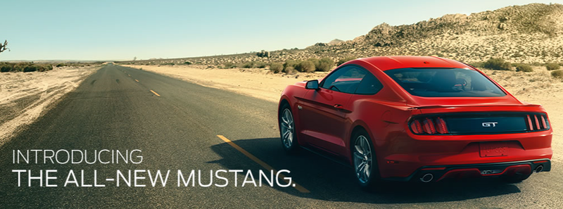 Illustration for article titled One of the best angles on the new 2014 Mustang is on Ford's landing page