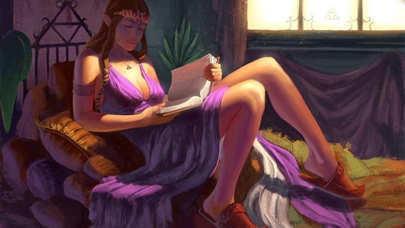 Illustration for article titled Princess Zelda In Repose
