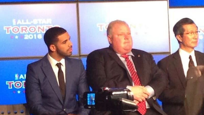 Illustration for article titled Rob Ford and Drake Side by Side Is a Thing of Beauty and Importance