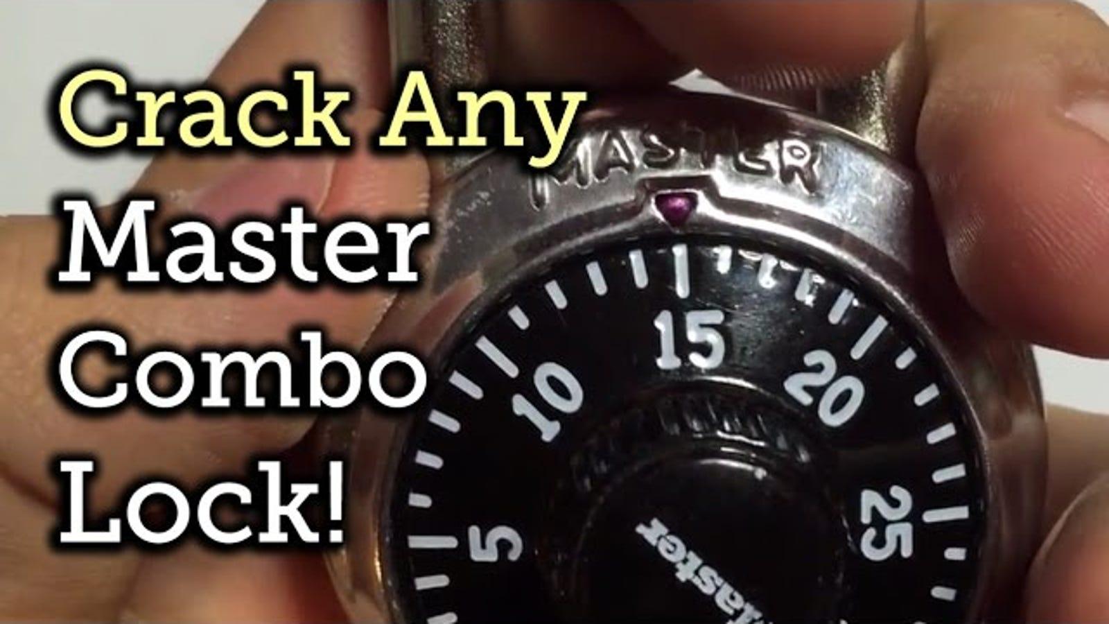 unlock master lock combination bike lock
