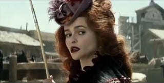 Illustration for article titled Helena Bonham-Carter fires her tattooed cannon leg in the new trailer for Lone Ranger
