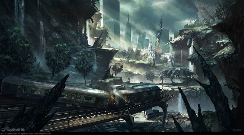 Illustration for article titled Astounding Concept Art of Cities Being Demolished