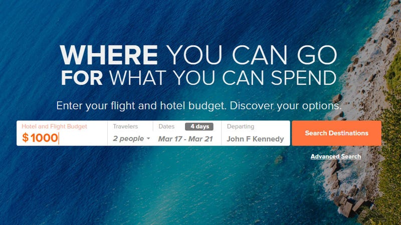 Wherefor Shows Where You Can Travel Based on Your Budget
