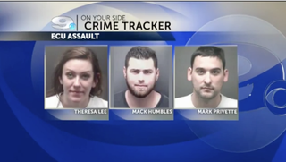 The three suspects who have been arrested in the brutal beating of Patrick Myrick CBS Screenshot