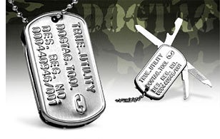 Illustration for article titled Dog Tag Multi-Tool, Now 100-Percent More Trendy!