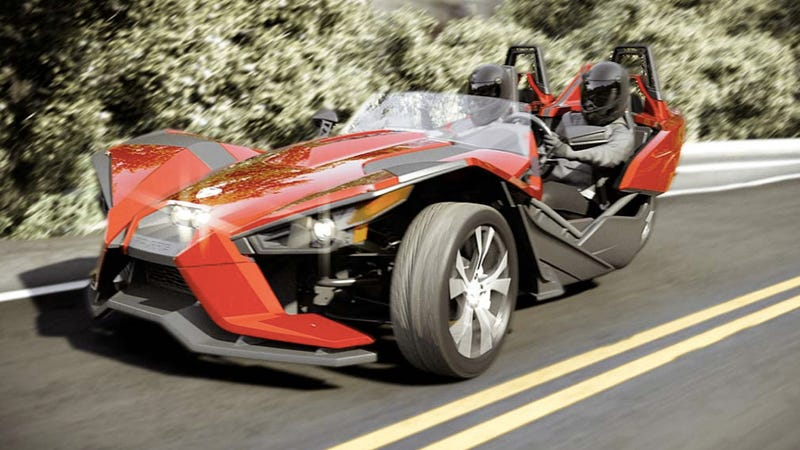 The Polaris Slingshot Is Your Amazing New Three-Wheeled Track Machine