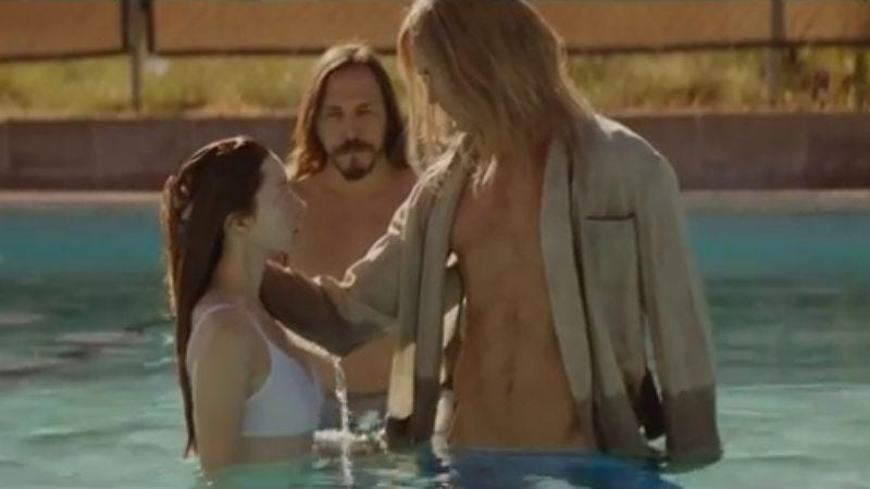 Illustration for article titled Alexander Skarsgard plays a shirtless cult leader in a new, slightly NSFW Cut Copy video