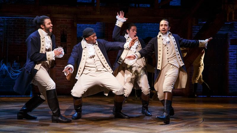 Part of the cast of Broadway's Hamilton
