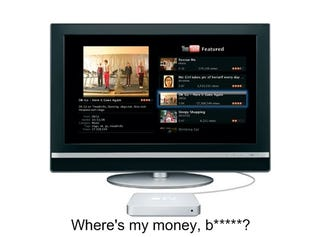 Illustration for article titled Apple TV Profit Margins Not As Obscene as Most Apple Wares