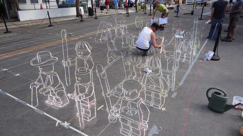 I Wish All Streets Had Lego Minifigs Painted on Them