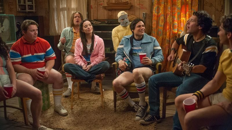 """Illustration for article titled Wet Hot American Summer: First Day Of Camp: """"Staff Party"""""""