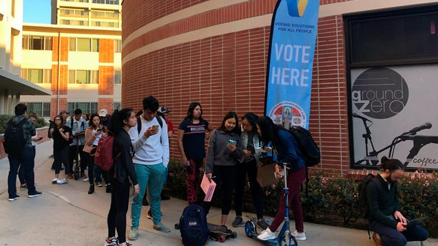 Bug-Ridden Tablets Behind Glacial Lines at Voting Sites in Los Angeles County, Report Finds
