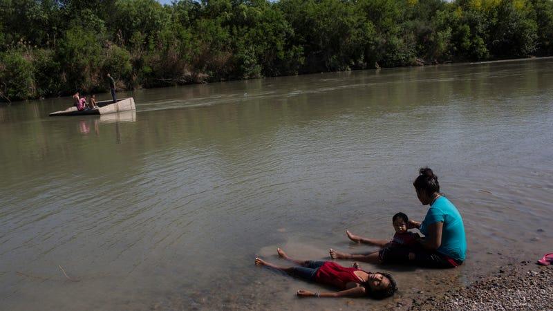 The Rio Grande across the border from Laredo, Texas.
