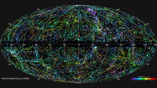 Illustration for article titled This is What 43,000 Galaxies Look Like On a Map