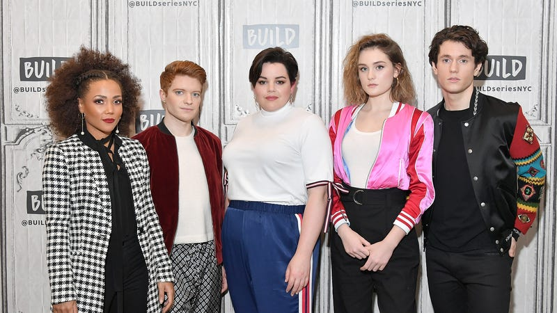 Heathers stars Jasmine Mathews, Brendan Scannell, Melanie Field, Grace Victoria Cox and James Scully