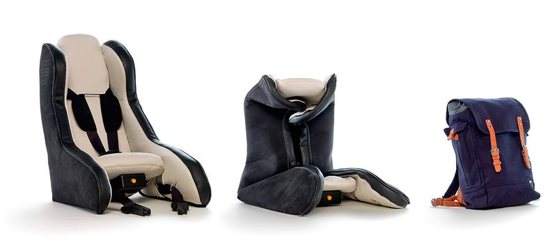 Volvos Inflatable Child Seat Concept Fits In A Backpack