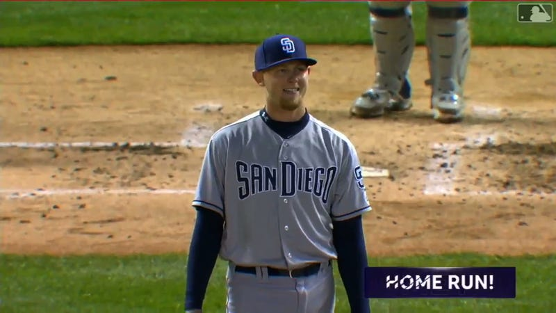 Illustration for article titled Padres Rookie Pitcher Can Only Gaze Admiringly At The Grand Slam He Just Gave Up