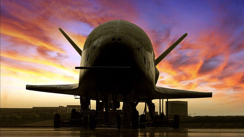 The X-37B unmanned spaceplane.