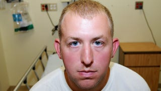 Illustration for article titled Officer Darren Wilson Still Can't See How He Could Possibly Be Racist