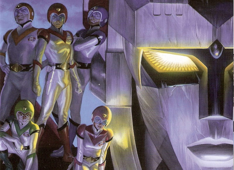 Voltron #1 cover by Alex Ross.