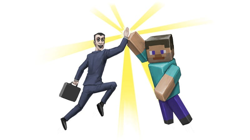 Illustration for article titled Minecraft And The G-Man, Together For Charity