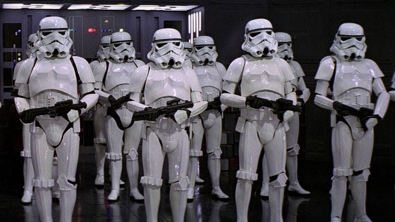 Illustration for article titled Kansas' open carry laws do not extend to Stormtroopers, apparently