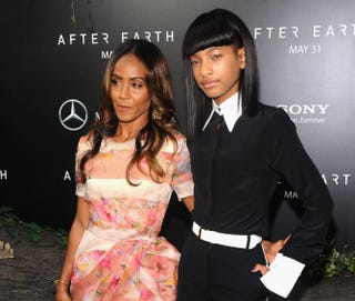Jada Pinkett Smith and daughter Willow at the New York City premiere of After EarthMay 29, 2013Jamie McCarthy/Getty Images for Mercedes-Benz