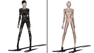 Illustration for article titled Miley's 'Bangerz' Tour Costumes Revealed, Are Heavy on the Underbutt