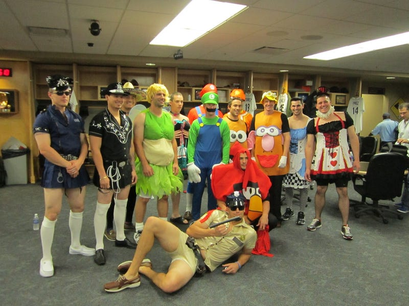 Illustration for article titled The 2011 MLB Rookie Hazing Costume Collection