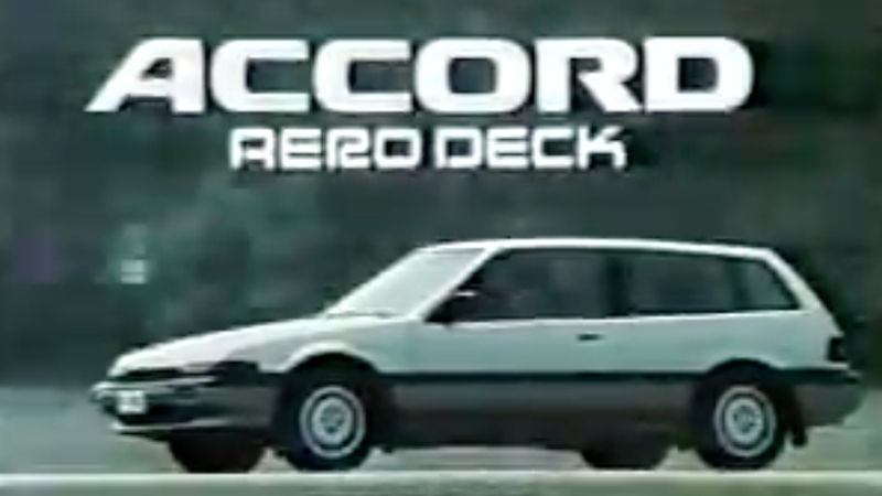 Illustration for article titled The Honda Accord Aerodeck Was A Bubble Era Shooting Brake Built For Easy Living