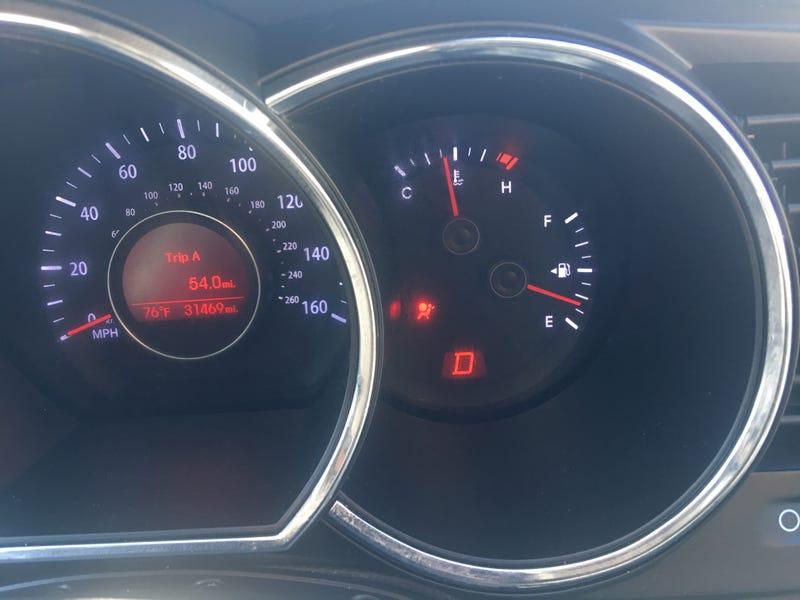 Airbag light on a retired rental Kia Optima I picked up last week.