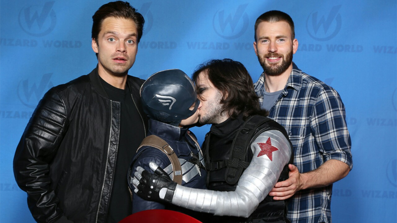 Captain America And Winter Soldier Make Out As Chris Evans -9350