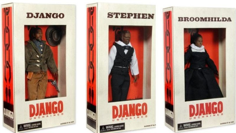Illustration for article titled The Django Unchained action figures have been emancipated